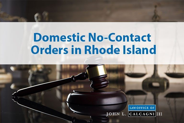Domestic No-Contact Orders in Rhode Island